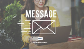 Message Communication Report Information Connection Concept Royalty Free Stock Photography