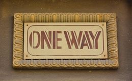 Message concept: one way Stock Photography