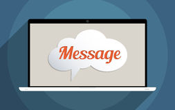 Message. Concept for social network and social media. Flat design illustration Royalty Free Illustration