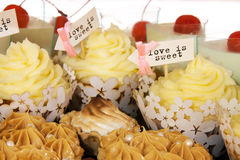 message on cupcakes Royalty Free Stock Photo