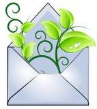 message d'écologie illustration de vecteur