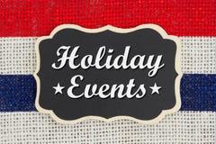 Message d'événements de vacances image libre de droits