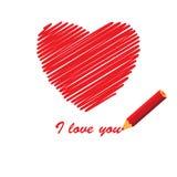 Message d'amour Image libre de droits