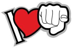 Message d'amour Photo libre de droits