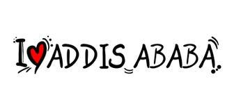 Message d'amour d'ADDIS ABABA Images libres de droits
