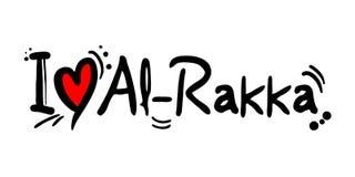 Message d'amour d'Al-Rakka illustration stock