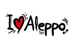 Message d'amour d'Alep illustration libre de droits