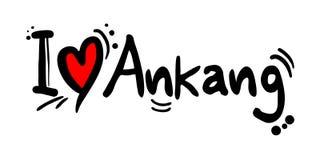 Message d'amour d'Ankang Photographie stock libre de droits