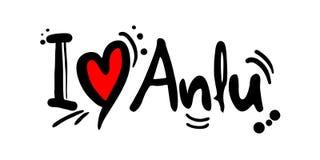 Message d'amour d'Anlu Photographie stock libre de droits