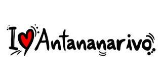 Message d'amour d'Antananarivo Images libres de droits