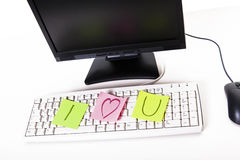 Message d'amour dans les affaires Images libres de droits