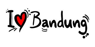 Message d'amour de Bandung Photos stock
