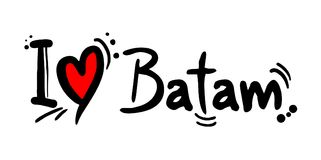 Message d'amour de Batam illustration stock