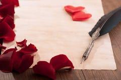 Message d'amour de jour de valentines de St Photos stock