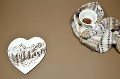 Message d'amour - jour de valentines Photographie stock