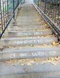 Message d'amour sur les étapes Photos libres de droits