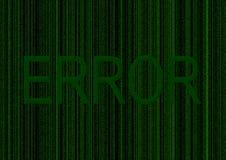 Message d'erreur Photo libre de droits