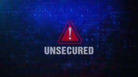 Message d'erreur de avertissement d'alerte sans garantie d'écran clignotant sur l'écran illustration de vecteur