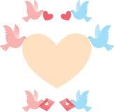 Message d'oiseau Image libre de droits
