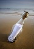 Message dans une bouteille Photographie stock