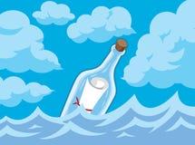 Message dans une bouteille illustration stock