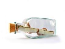message de bouteille Photographie stock libre de droits