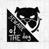 Message de chien de danger illustration de vecteur