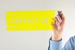 Message de contactez-nous Photographie stock libre de droits