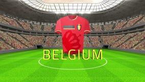 Message de coupe du monde de la Belgique avec le débardeur et le texte illustration libre de droits
