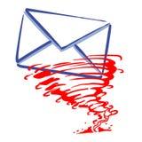 Message de courrier express image libre de droits