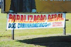 Message de DOS Caminhoneiros de Paralização Geral Photo stock