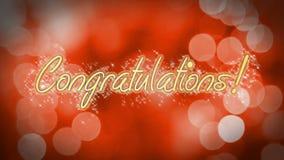 Message de félicitations sur le fond romantique, anniversaire, épousant la salutation illustration de vecteur