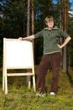 Message de forêt Photo stock