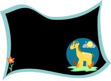 message de giraffe de panneau illustration stock