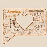 Message de God& x27 ; vrai amour de s illustration de vecteur