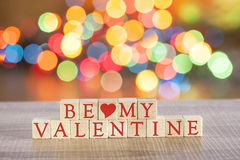 Message de jour de valentines Photo stock