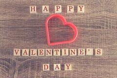 Message de jour de valentines Images stock