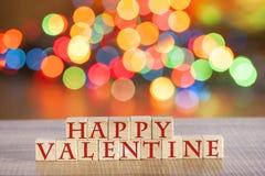 Message de jour de valentines Photographie stock libre de droits