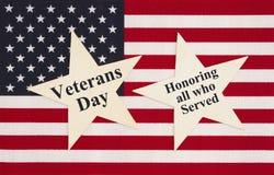 Message de jour de vétérans des Etats-Unis d'Amérique photo stock