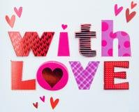 Message de l'amour. Photographie stock