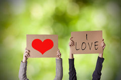 Message de l'amour Images libres de droits