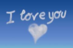 Message de l'amour Photo libre de droits