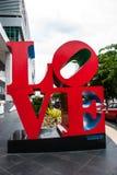 Message de l'amour avec des lettres en métal Photos libres de droits