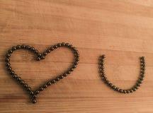 Message de l'amour sur le fond en bois photos libres de droits