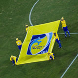 message de la FIFA de drapeau Photos stock