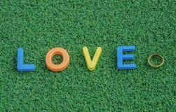 Message de lettre d'amour Images libres de droits