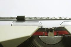 Message de machine à écrire Images stock