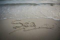 Message de mer Photo libre de droits