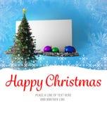 Message de Noël heureux Image stock