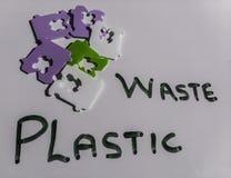Message de rebut en plastique 2 photo stock